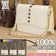 [DELLA STELLA] 100% Cow leather Womens bag/NEW ARRIVALS customized rivated cowhide handbag/wallets/bag with corcodile grain sling DLE82