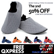 [Qxpress Free][The 2nd 50% Off]High Quality Adult/Kids Unisex Anti-Slip Skin Shoes / Water Shoes / Jogging Shoes / Running Shoes / Aqua Socks / With Zippered Bag