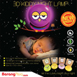 [Malaysia Seller - FREE SHIPPING] 3D KIDDY Sticker Automatic Sensor Night Lamp. 4 Creative design with PVC sticker. BarangAsia.com