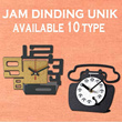 NEW ARRIVAL! JAM DINDING UNIQUE (Wall Clock)