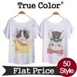★Direct factory Sale★Design By Korea True Color Short sleeved T-shirt Unique printing High quality cotton Women T-shirt