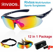 100% Authentic Rivbos 12 in 1 Polarized Sports Sunglasses Package·Ready stock·Best Christmas Gift