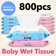 ★Super sale★[In Singapore] Baby Wet Wipes 800pcs / ♥Unbelievable Price♥Natural Ingredients♥KIDS♥HOUSEHOLD♥TISSUE♥DI