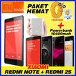 XIAOMI PAKET Redmi Note 4G LTE+REDMI 2s 4G LTE+POWERBANK XIAOMI 10400mAh+Free Ongkir Jabodetabek + Asuransi