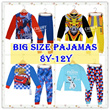 ★Mamas Luv★26/10 updated Big Size Kid Pajamas for boy and girl 8y-12y