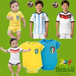 2014 Brazil World Cup Man Woman Kids Baby Football/Soccer Sports Set Shirts Baby Romper/Club Jersey Suit ~Best Soccer Four star
