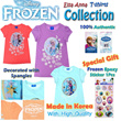 Sale!!! Frozen Elsa Anna T-shirts Officially Licensed Products / Decorated with spangle / Made in Korea / High Quality / Authentic Disney Items / Olaf Tee Tshirts tops girls children clothing gift