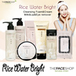 ★ The Face Shop ★  Rice Water Bright Cleansing Foam 150ml Lip / Eye Remover 120ml Rice Bran Cleansin