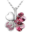 [BUY 3 FREE 1]SwarovskiElementz 18k white gold plated Lucky Necklaces