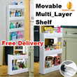 [Free Delivery]Space Saving-Movable Multi_Layer Shelf、Storage Stand Rack-Use in home etc/JAPAN Mater
