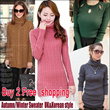 CHRISTMAS SPECIAL!!!~New Arrival * Winter Sweater Thermal Jacket*Korean version of womens sweaters / sweet little fresh and simple sweater : FREE SHIPPING OVER RM84.70 PURCHASE.
