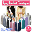 Basic Long Kintted Cardigan_8 Basic Colors_Premium [Buy1Get1]Quality_Spandex Knit Material_Korean Style_Cardigan / Jacket / Blouse / Shirt / Dress
