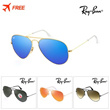 AUTHENTIC [Ray-Ban] Mens RB 3025 Mirror Aviator Sunglasses 26 Designs /Polarized/FREE delivery/Sunglasses/UV protection/Glasses/Fashion goods /EYESYS