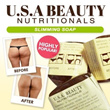 U.S.A Beauty Nutritionals Slimming Soap/Big M Bust Soap/3 in 1 Super Whitening Soap (x6)