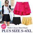 [FREE SHIPPING] Plus Size Women Short Pant Skirt Large size Short pants/Colours short pants S to 6XL