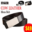 FEGER Cow Leather Mens Belt!Elegant  Exquisite Belt  Excellent quality and Lowest price!!