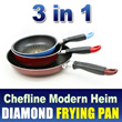 ★GSS SALE!★Diamond FryPan 3 pcs 1 set / Lowest Price Ever!!/frying pan/kitchen ware/happycall/