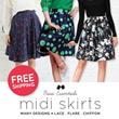 Basic Essentials ★ Midi Skirts ~ Many designs! Lace / flare / chiffon midi skirt