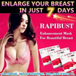 Buy 2 Free Shipping!RAPIBUST Breast Enlargement Mask ♥ For Your Beautiful Breast ♥ It Works On Everyone ♥ No Drug ♥ No Hormone ♥ No Side Effects