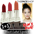 [The Face Shop] 1+1 Event! Black Label Lipstick 24g Korean Cosmetic