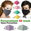3D Personalized Haze Prevention Mask-Activate Carbon Filter-Absorb Organic gas dust Etc-Micro Filter