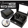 4/23 SUPER PRICE! [High quality]Piano Wood Elegant Watch Winder Motor Box–Choice of 2+0/2+3/4+0/4+6