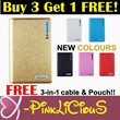 Buy 3 Free 1 Power Bank / Wallet PowerBank / 12000 20000 30000 50000mAh Portable Charger Battery / Free Gifts Cable Shipping Pouch / iphone5s Note3 Hello Kitty/ Xiaomi