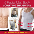 BEST SELLER!Limited 100 Qty at $18.90! 6 PACKS MEN BODY SCULPTING SHAPEWEAR BELLY BUSTER / MAN SLIMMING VEST /TANK /SINGLET