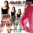 [20 Aug] NEW DESIGN ADDED! Aladdin pants / Yoga Pants / Alibaba pants / Hippie Baggy Aladdin Genie Gypsy Pants / Harem Baba Aladdin Loose Baggy Trousers / Tube Jumpsuit