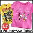 Kids Cartoon Tshirt / Kaos Anak Karakter untuk Umur 1-12tahun