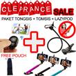 [Ready Stock] Paket HEBOH Tongsis Holder U+Tomsis+Lazypod Free Pouch Untuk Tongsis [WARNA RANDOM]