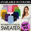 [DAPAT 3pc Harga RESELLER] Basic Sweater V-NECK for ladies_20Candy Colors_Fit S to L_Good Quality_Be