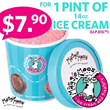 $7.90 for 1 Pint of 14oz Freshly Scooped Ice Cream at MaggieMoo in 2 Locations ! Limited Promotion !