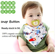 Limited Timesales! Good Quality 100% organic cotton BIB Fashion Bandana Dribble Saliva Towels Infant Bibs with Button for Baby Snap Button