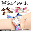 ★HENES Ladies Watches★ Flower and leopard Scarf Watch COLLECTION! Christmas Gifts for women! Gift Wrapping! Free Shipping and 1 Year Warranty!