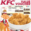 [Super Promo] KFC Voucher Value Rp200.000 Hanya Rp.180000 !