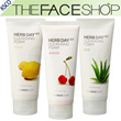 [THE FACE SHOP]HERB DAY 365 CLEASING FOAM 3 Items [aloe / Acerola / lemon]