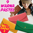 [BUY 1 GET 1 FREE] Japan and south Korea style Simple Wallet*Import and Ready Stock*9 Colors