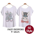 ★Direct factory Sale★Design By Korea True Color Short sleeved T-shirt Unique printing High quality cotton Women T-shirt / Buy 2 or more, 1 Shipping Charge!