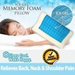 Memory Foam Ice Gel Pillow: Relieves Back Neck Shoulder Pain and icy feeling dur