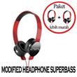 [CLEARANCE SELL] *** Modified Headphone (+Mic) SUPERBASS - bisa lepas pasang bagian earpuff!! *** [ BISA MILIH SATUAN OR BUY 1 GET 1]