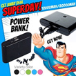 12000mAh/20000mAh/30000mAh Black White Power Bank Portable charger