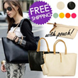 [Free shipping]New Fashion Woman Lady Satchel Shoulder Tote Handbag Bag Purse With pouch#5355
