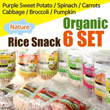 ★Organic Rice Snack 7months _6 SET★Nature/Purple Sweet Potato/Spinach/Carrots/Cabbage/Broccoli/Pumpkin/gobiz-031