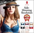 Flash Sale!Limited 50 Qty $22.8, next 50 Qty $24.9!Direct From Japan [Mode Marie] Side-Slimming Revolution 62408 Collection Demi (3/4 Cup) Bra(A57R62408)