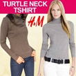 **NEW ARRIVAL HM TURTLENECK TSHIRT**