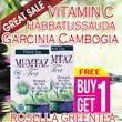 1 BUY GET 1 FREE Garcinia Cambogia Tea + VIT C + Green Tea + Rosella  (Mumtaz Tea) - Melangsingkan  Meremajakan Kulit - Pria  Wanitaeh Herbal Detoksifikasi dan Slimming (Pelangsing)