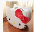 Hellokitty KT cartoon cat girl cosmetics box with lock make-up box box bag