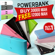 Bundling POWERBANK 30000mAh FREE 12000mAh (Buy 1 FREE 1)