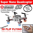 Flying Drone for 2.4G Super Nano Quadcopter Includes Rechargeable High Performance Battery + High Wind Resistance